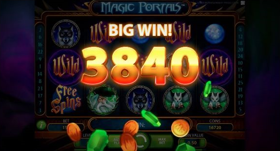 Netent Magic Portals Video Slot Big Win